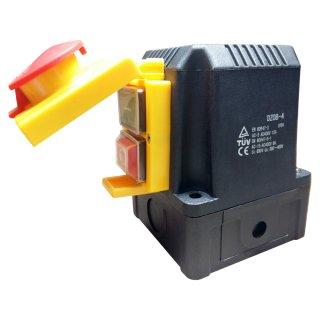 Machine switch with CEE plug 400V, phase inverter, emergency stop flap- identical to KEDU KOA1Y