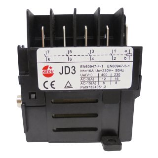 Switch-Relay KEDU JD3 230V with 4 contacts