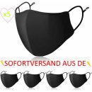 Fabric mask set of 5 with nosepiece made of 100%...