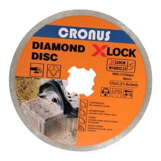 Professional Diamanttrennscheibe X-LOCK Ø125 mm in verschiedenen Ausführungen und Größen für Beton Continuous