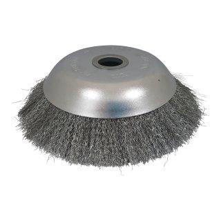Unkrautbürste Rundbürste 200x25 mm für Motorsense Kegel Drahtbürste Freischneider gezopft oder ungezopft