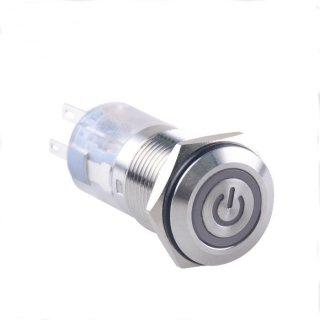 Metaldrucktaster LED beleuchtet 24V 2NO+2NC